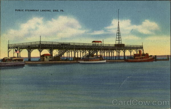 Public Steamboat Landing Erie Pennsylvania