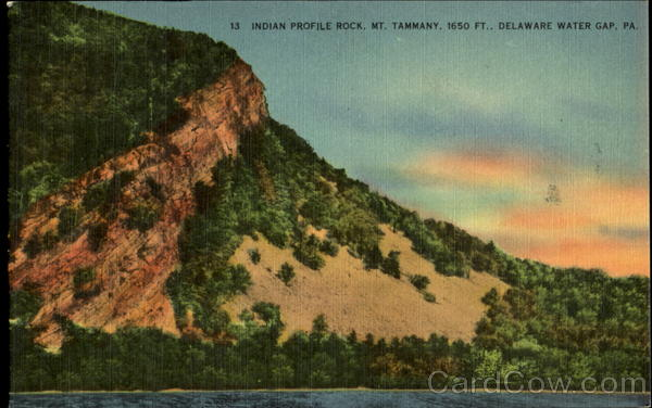 Indian Profile Rock Delaware Water Gap Pennsylvania