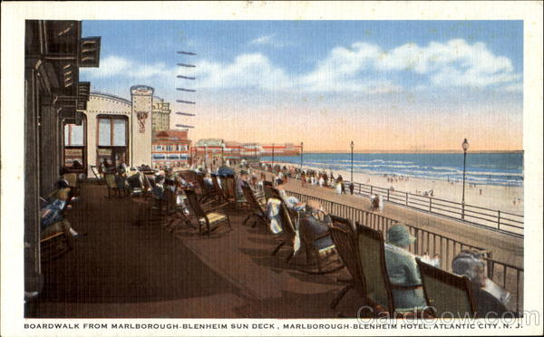 Boardwalk From Marlborough-Blenheim Sun Deck Atlantic City New Jersey