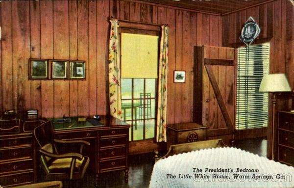 The President s Bedroom  Little White House Warm Springs Georgia. The President s Bedroom  Little White House Warm Springs  GA