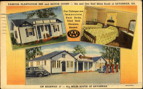 Famous plantation inn and motor court savannah ga for M m motors savannah ga