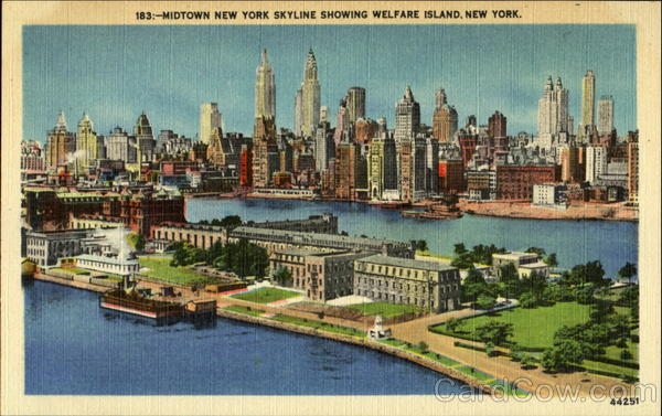 Midtown New York Skyline Welfare Island