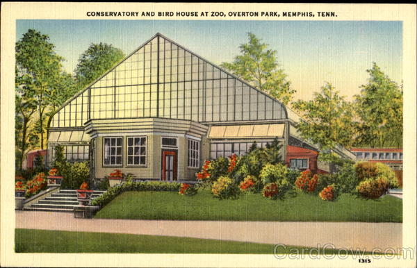 Conservatory And Bird House At Zoo, Overton Park Memphis Tennessee