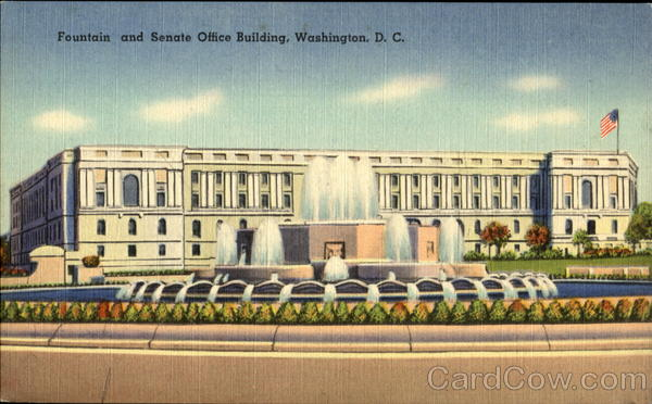Fountain And Senate Office Building Washington District of Columbia