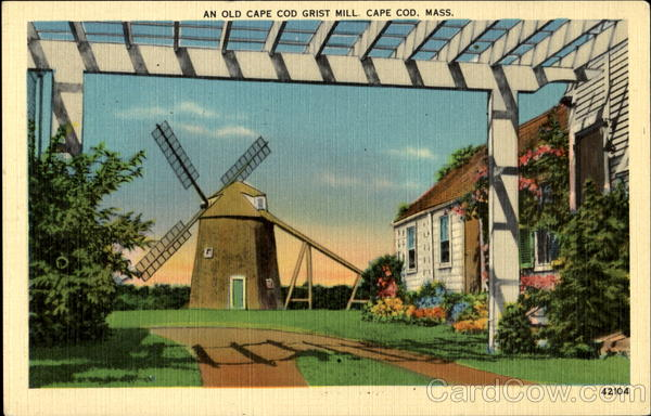 An Old Cape Cod Grist Mill Massachusetts
