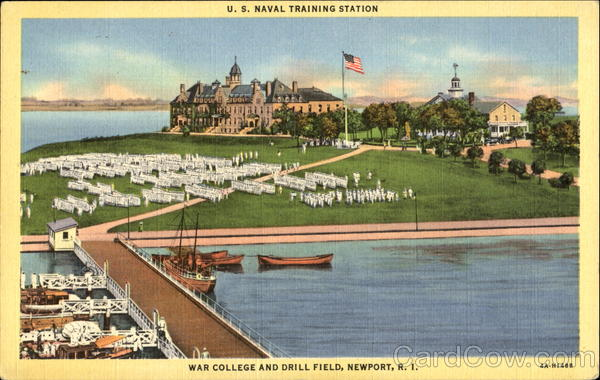 U. S. Naval Training Station War College And Drill Field Newport Rhode Island