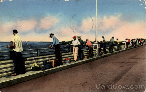 Fishing From The Bridges Popular Pastime Miami Florida