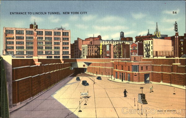 Entrance To Lincoln Tunnel New York City