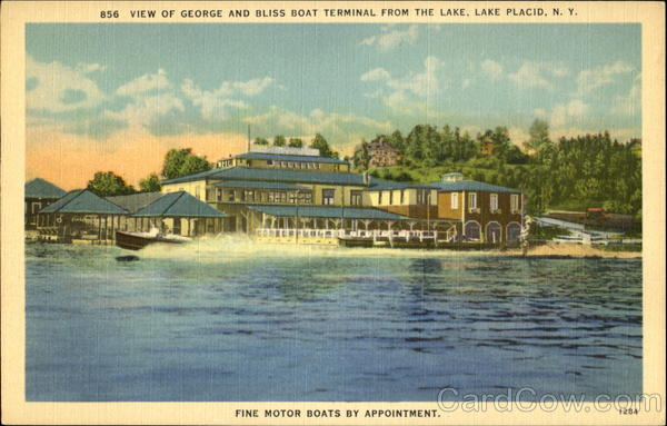 View Of George And Bliss Boat Terminal Lake Placid New York