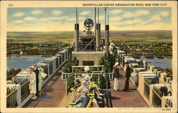 Rockefeller Center Observation Roof New York City