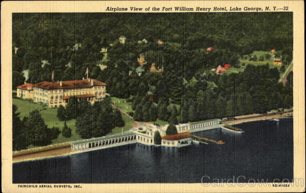 Airplane View Of The Fort William Henry Hotel Lake George New York
