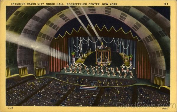 Interior Radio City Music Hall New York City