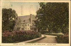 Willow Brook Residence Of Mrs. Zenas Crane