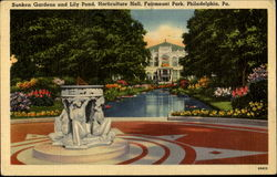 Sunken Gardens And Lily Pond Horticulture Hall, Fairmount Park