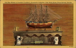 Two Ship Models Of President Franklin D. Roosevelt's Collection, Little White House