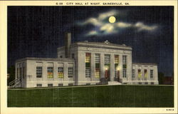 City Hall At Night Postcard