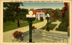 Yonah Hall From Simmons Building, Brenau College Postcard