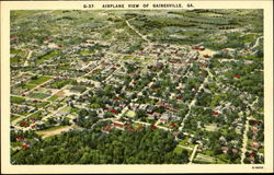 Airplane View Of Gainesville Postcard