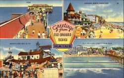 Greetings From Old Orchard Beach Postcard