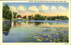 Lake And Bathing Beach At Country Club