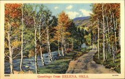 Greetings From Helena Postcard