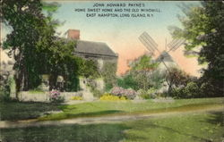 John Howard Payne's Home Sweet Home And The Old Windmill, East Hampton