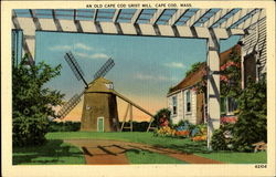 An Old Cape Cod Grist Mill