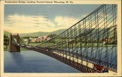 Suspension Bridge Looking Toward Island