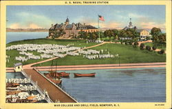 U. S. Naval Training Station War College And Drill Field