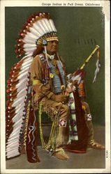 Osage Indian In Full Dress