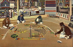 Whirling Log (Good Luck) Sand Painting Of The Navajo Indians