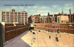 Entrance To Lincoln Tunnel