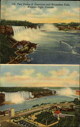 Two Views Of American And Horseshoe Falls