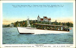 View Of New Observation Boat Postcard
