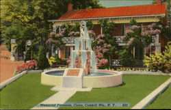 Memorial Fountain Postcard