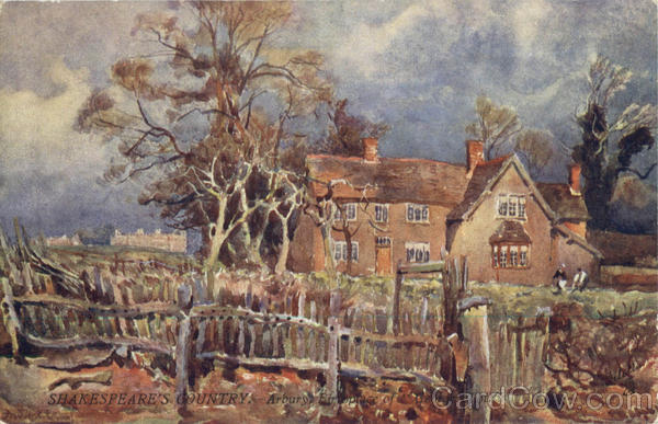 Tuck's Oilette Shakespeare's Country. Arbury Birthplace of George Eliot