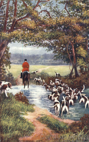 Tuck's Oilette Returning Home Fox and Stag Hunting