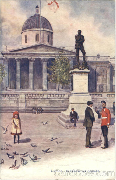 Tuck's Oilette In Trafalgar Square London England