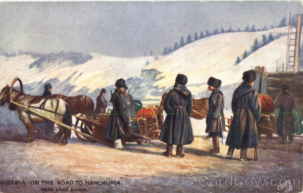 Tuck's Oilette On The Road to Manchuria, Near Lake Baikal Russia