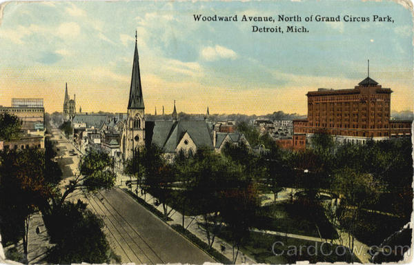 Woodward Avenue, North of Grand Circus Park Detroit Michigan