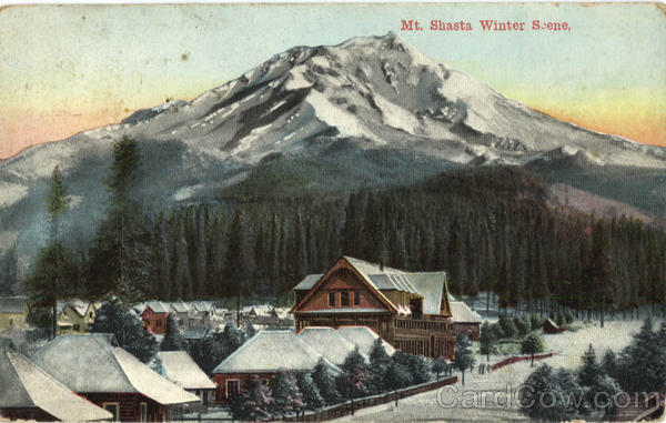 Mt. Shasta Winter Scene California