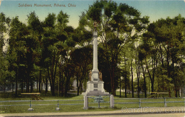 Soldiers Monument Athens Ohio
