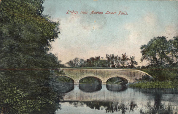 Bridge Near Newton Lower Falls Massachusetts