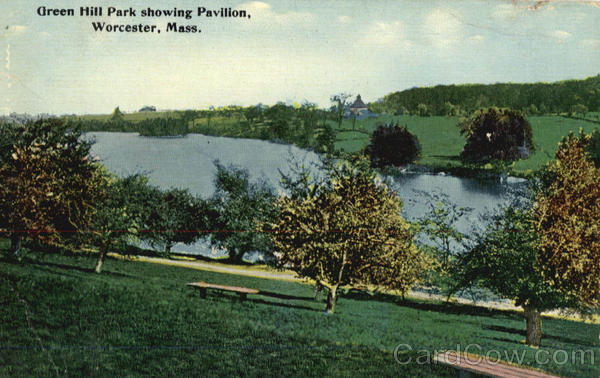 Green Hill Park showing Pavilion Worcester Massachusetts