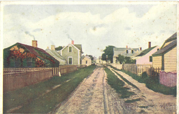 Old Broadway Sconset Nantucket Massachusetts