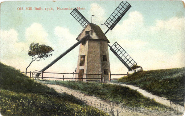 Old Mill Nantucket Massachusetts Windmills