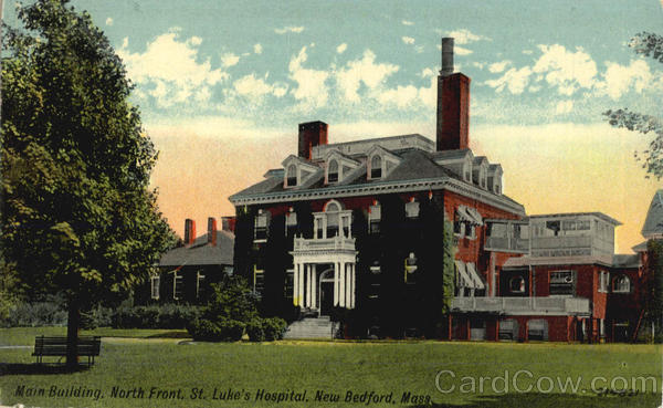 Main Building North Front, St. Luke's Hospital New Bedford Massachusetts