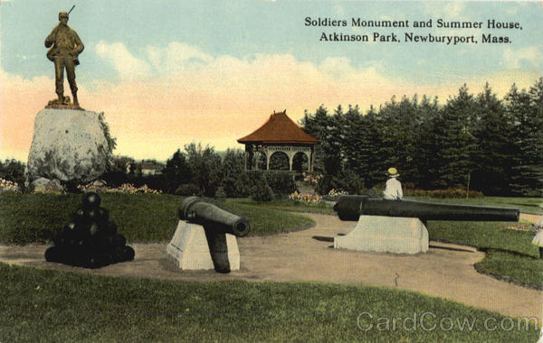 Soldiers Monument and Summer House, Atkinson Park Newburyport Massachusetts
