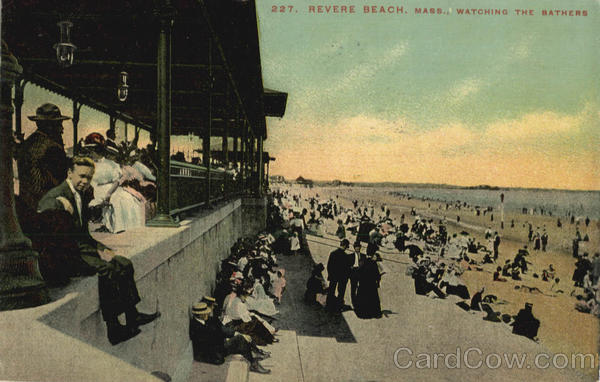 Watching The Bathers, Revere Beach Massachusetts
