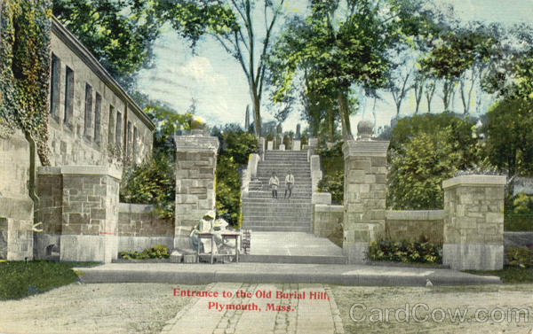 Entrance to the Old Burial Hill Plymouth Massachusetts
